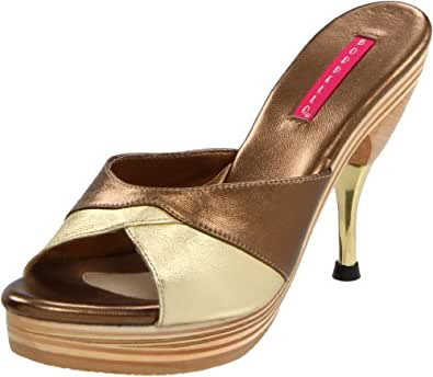 Pleaser Women's Genie-101LE/BZ Pump,Bronze,6 M US
