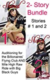Pounded on the Plane Vol  I: 2-Story Bundle, Shared in the Air by Billionaires Stories 1&2 (BBW 1st Time, FMMMMM Menage, BMWW Interracial, Rough and Bare):     (Pounded on the Plane 2-Story Bundles)