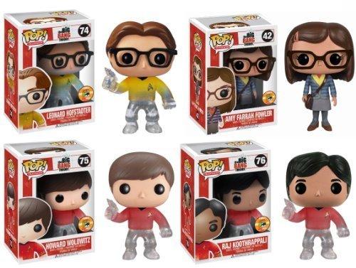 Big Bang Theory Pop TV Star Trek SDCC 2013 Exclusive Set Of 4