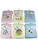 Luxury Soft Fleece Baby Blanket with Giraffe Applique 75 x 100cm for Babies from Newborn