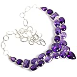 Generic Charmming Drusy Amethyst Awesome Necklace 19 1/2