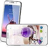 5'' Unlocked LANDVO L800S Android 4.4 Kitkat OS 3G Smartphone MTK6582 Quad Core Mobile Phone 1GB RAM +4G ROM Dual SIM Dual Standby 5MP Camera OTG GPS WIFI Bluetooth Google Play Store APPs Phablet (White)