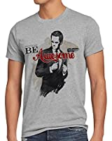 style3 Be Awesome Instead T-Shirt Herren sitcom stinson barney