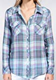 RAILS(レイルズ) Rails Kendra Original Plaid Button Down Shirt/ケンドラオリジナルボタンダウンシャツ ≪Aqua/Purple≫XSサイズ 並行輸入品