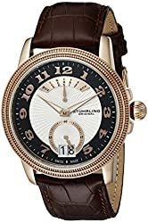 Stuhrling Original Men's 788.03 Symphony Analog Display Swiss Quartz Brown Watch