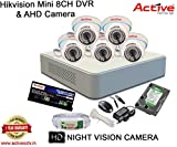 HIKVISION DS-7108HGHI-F1 MINI 8CH DVR + ACTIVE AHD 1.3 Megapixel High Resolution 36IR DOME CAMERA 5pcs + 1TB HDD + ACTIVE CABLE + ACTIVE POWER SUPPLY (FULL COMBO)