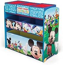 Comprar Disney - Mueble guarda juguetes y organizador de madera y tela Mickey Mouse, color azul (TB84847MM)