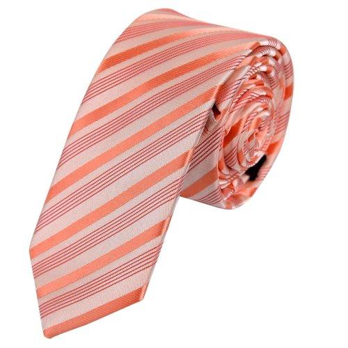 Ps1157 Economics Presents Orange Handsome Slim Necktie Matching Gift Box Set Stripes Cheap Skinny Tie By Epoint