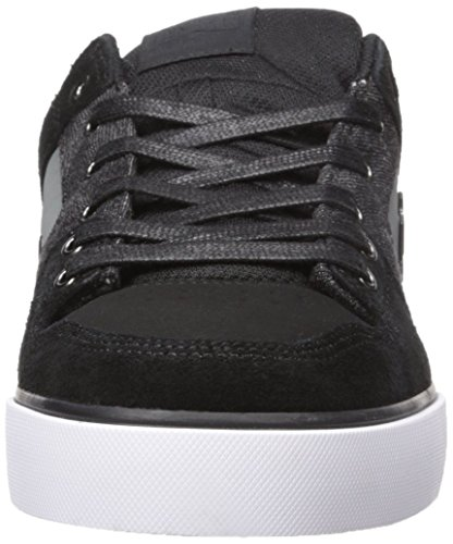 DC Men's Pure SE Skate Shoe, Black Destroy Wash, 13 M US