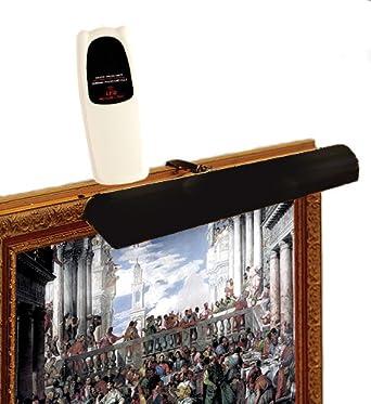 led remote control picture light cordless matte black. Black Bedroom Furniture Sets. Home Design Ideas