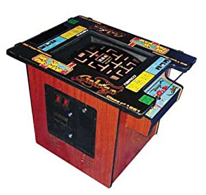 Ms. Pac-Man / Galaga Classic Cocktail Table Arcade Game with 19-Inch