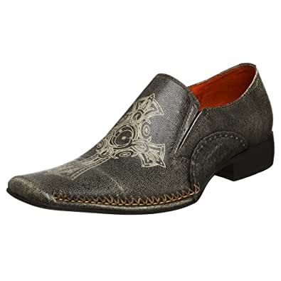 robert wayne s rome slip on grey 8 m shoes