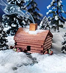 Miniature Log Cabin Incense Burner with Balsam Fir \