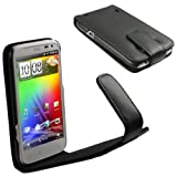 IGadgitz Leather Case Cover Holder with Screen Protector for HTC Sensation XL - Black