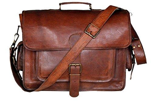 CLASSYDESIGNS-Weinlese-Leder-Laptop-Tasche-15-Bote-Handmade-Aktentasche-Crossbody-Umhngetasche