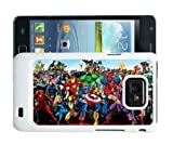 Samsung Galaxy S2 i9100 Cool Heroes Marvel Universe Case Cover & Screen Protector - WH214