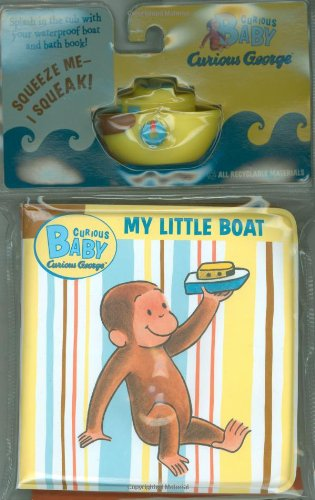 Curious Baby My Little Boat (Curious George Bath Book & Toy Boat) (Curious Baby Curious George) front-999095