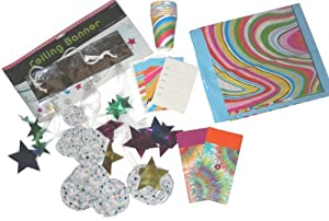 The Gift Wrap Company Groovy Stripe Party Ensemble for 8