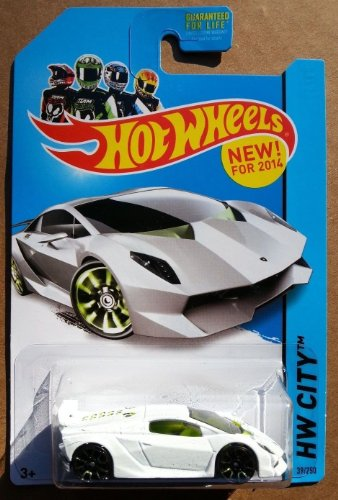 2014 Hot Wheels Hw City Lamborghini Sesto Elemento - White [Ships in a Box!] - 1