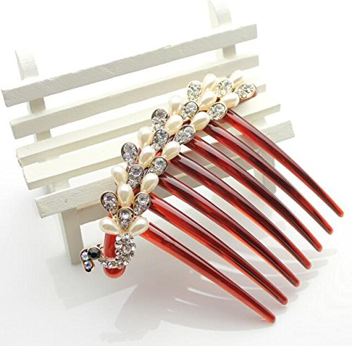 ecloud-shopr-white-pearl-bling-rhinestone-beaded-silver-crystal-decorative-hair-comb