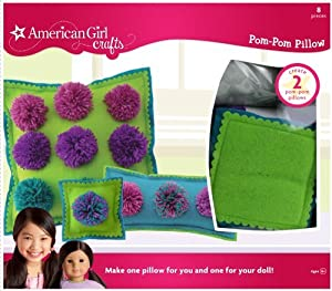 American Girl Crafts Pom Pom Pillow Kit Cool by American Girl Crafts