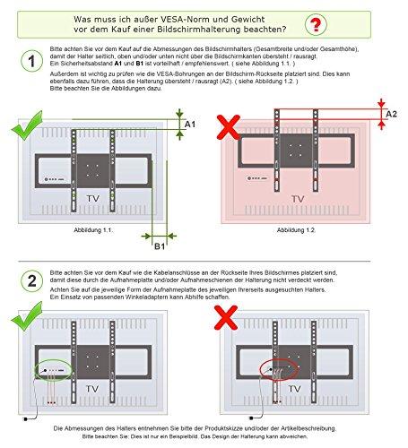 RICOO Supporto TV R23 Muro TV supporto orientabile e ...