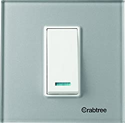 Crabtree ACMPGCSV01 Murano1 Module Glass Cover Plate (Silky Silver)
