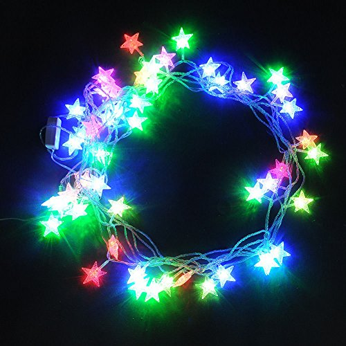 Prodeals® 10M 50 Led Rbg Multi-Color Fairy Light String Star Pattern With Transparent Wire For Indoor Outdoor Christmas, Partys, Wedding, New Year Decoration (8 Changing Modes)+Us Plug