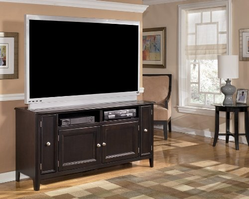 Cheap Almost Black Contemporary Large TV Stand (W371-38)
