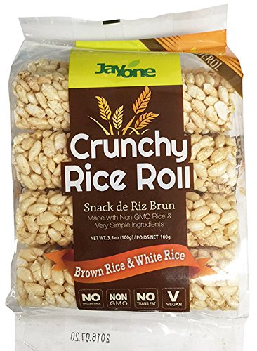Jayone Crunchy Rice Rolls, Brown/White Rice, 3.5 Ounce