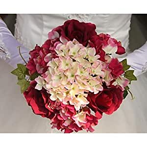 BuW Elegant Fresh Multicolor Flowers Wedding Bridal