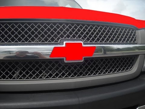 Chevrolet Avalanche Bowtie Grill Emblem Cover – Red Vinyl – Fits