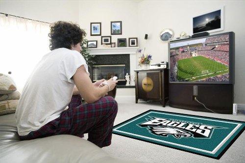 FANMATS NFL Philadelphia Eagles Nylon Face 4X6 Plush Rug Fanmats Area Rugs autotags B00A2ELKXK