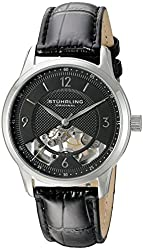 Stuhrling Original Men's 977.02 Legacy Analog Display Mechanical Hand Wind Black Watch