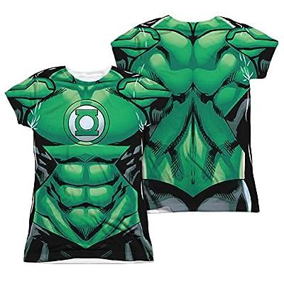 Green Lantern GL Uniform Costume Junior Fit Front/Back T-Shirt