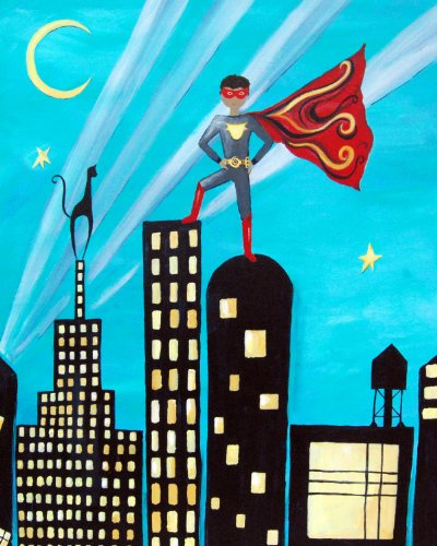 Cici Art Factory Wall Art, Superhero, Small
