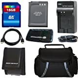 Nikon Coolpix S6000, S6100, S6200,S630, S640, S70, S8000, S8100, S8200, S9000, S9100, S9200 Digital Camera Accessory Kit Includes 16GB SDHC Memory + Memory Reader + Memory Card Wallet + Replacement Battery Charger + Replacement Battery + Camera Case + HDMI Cable