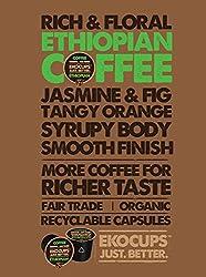 EKOCUPS Organic Artisan Coffee, Ethiopian , Medium roast for Keurig K-cup single serve Brewers, 40 count by EkoCups