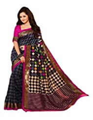 Surat Tex Women's Silk Saree (G309SE2128HA _Multicolor)