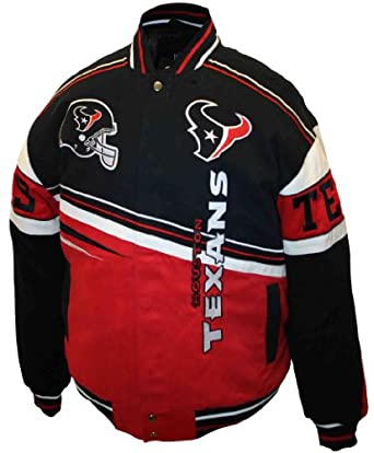NFL Mens Houston Texans 1st and 10 Cotton Twill Jacket by MTC Marketing, Inc