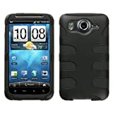 MyBat HTCINS4GHPCSK040NP Rubberized Fishbone Protective Case for HTC Inspire 4G - 1 Pack - Retail Packaging - Black