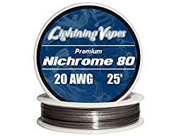 Genuine Lightning Vapes ® 20 AWG Nichrome 80 Wire 25\' 50\' 100\' 250\' 500\' 1000\' (25)
