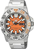 Seiko Mens SNZF49 Seiko 5 Automatic Orange Dial Stainless-Steel Bracelet Watch