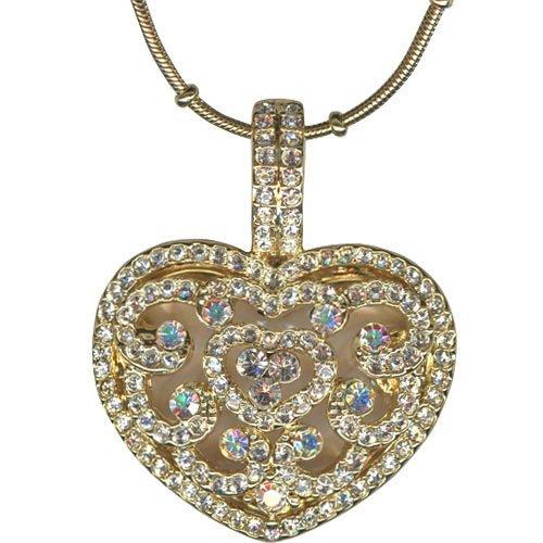 Kirks Folly Always & Forever Heart Locket Necklace Goldtone