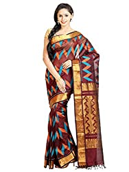 Anagha Handloom Woven Kanjivaram Silk-Cotton Saree - Brown