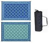 Reversible Mat 6' X 9' Garden Mat (Blue/Light Green)