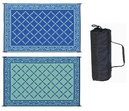 Reversible Mats 116093 Blue/Light Green 6\'x9\' RV Garden Mat