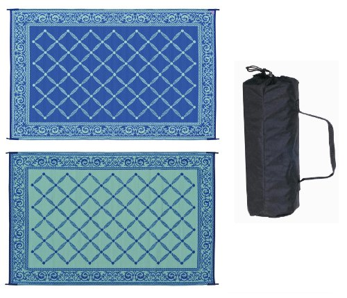 Reversible Mat 116093 Blue & Light green Garden Mat 6 X 9