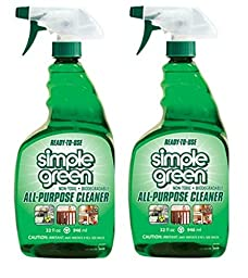 Simple Green Ready-To-Use All-Purpose Cleaner, 32 oz trigger, 2 pack bundle