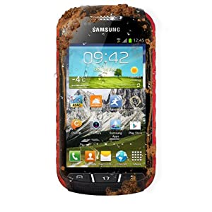 Samsung S7710 Galaxy Xcover 2 Smartphone (10,2 cm (4 Zoll) Touchscreen, 1GHz, Dual-Core, 1GB RAM, 4GB, 5 Megapixel Kamera, Android 4.1) schwarz/rot